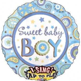 Ballon met een liedje 'Sweet Baby Boy'