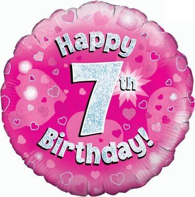 "Sempertex 18"" 7e Verjaardag Roze"