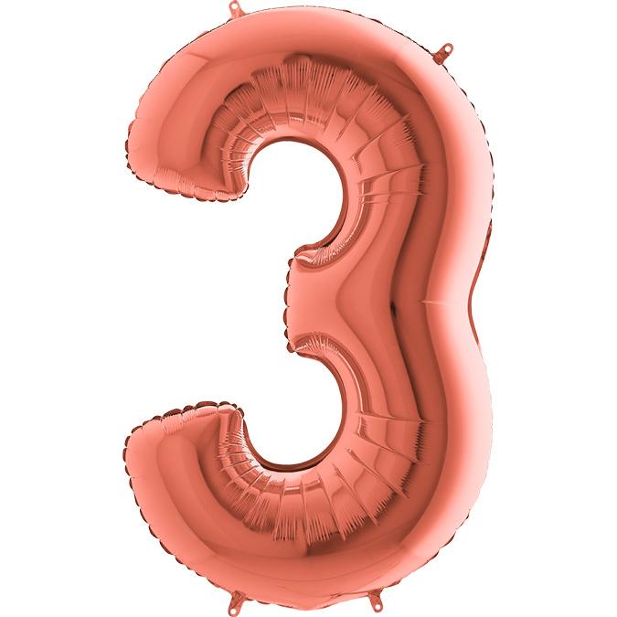 "Sempertex 40"" Nummer 3 Rosé Goud"