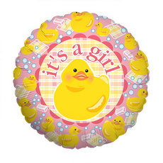 Folieballon 'It's a girl'