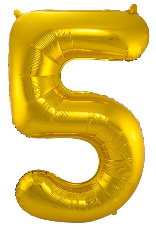 """Ballon 26"""" Nummer 5 Goud"""