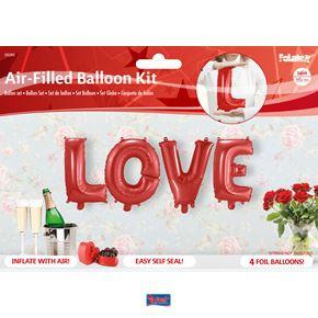 Folieballonnen Letters 'Love'