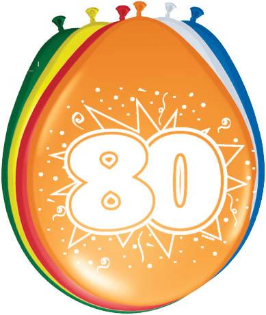 Ballonnen 30cm 80e Verjaardag
