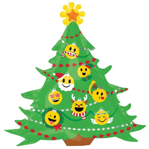 Folieballon Emoticon Kerstboom