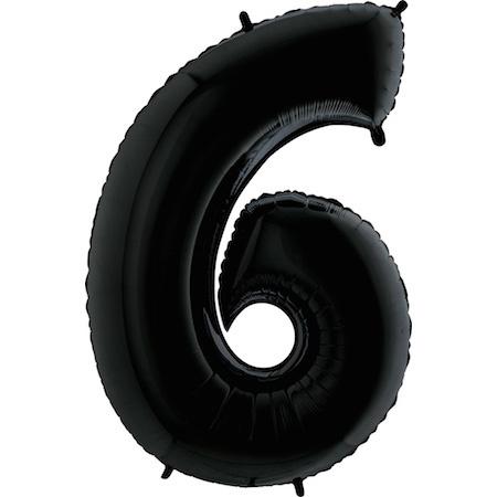 """Sempertex 40"""" Nummer 6 Zwart"""
