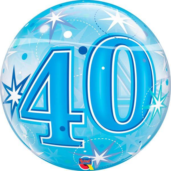 Bubble Verjaardag 40e Blauw