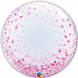 """Deco bubbles Pink Confetti Dots 24"""""""