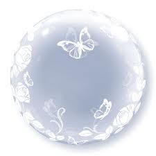 """Deco Bubble Rozen&Vlinders 24"""""""