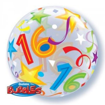 Bubble 16e Verjaardag bont slingers