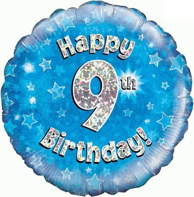 "Sempertex 18"" 9e Verjaardag Blauw"