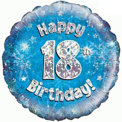 "Sempertex 18"" 18e Verjaardag Blauw"
