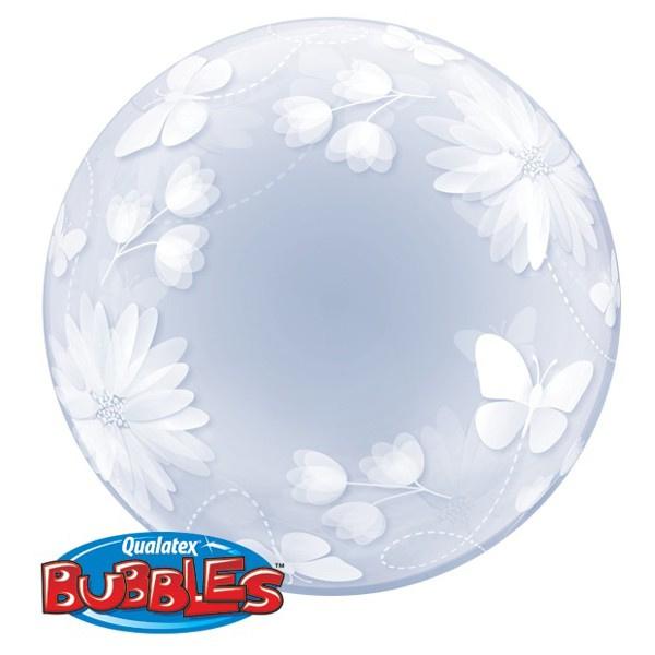 """Deco Bubble Vlinders&Bloemen 20"""""""