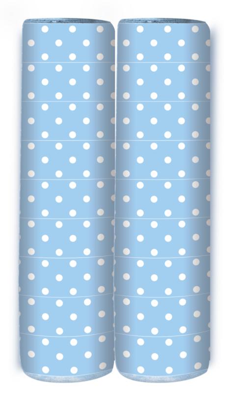 Serpentine Polka Dots Pastel Blauw