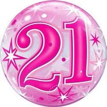 Bubble 21e Verjaardag Roze