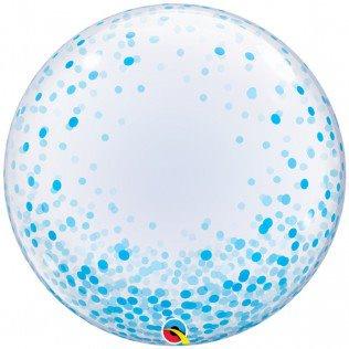 """Deco bubbles Blue Confetti Dots 24"""""""