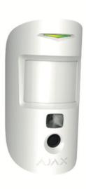 Ajax MotionCam, wit, draadloze passief infrarood detecto (alleen in combinatie met de Hub 2)