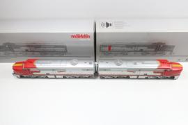 Märklin 37611/49611 Amerikaanse diesellok PA-1 Santa fe 2 delig MFXsound