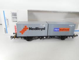 Märklin 47683 Draagwagen met containers Nedloyd NS