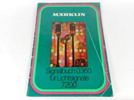 Marklin 0360 Signaalbuch fur lichtsignale 7200