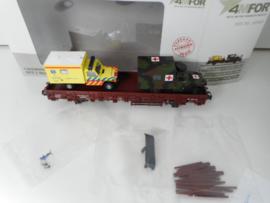 Märklin 46968 4Mfor lage boordwagen met 2 ambulances Nederlands