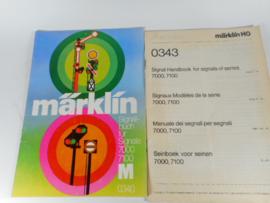 Marklin 0430 + 0343 Signalbuch + vertaling