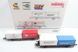 Märklin 47682 Wagenset luftfracht DB