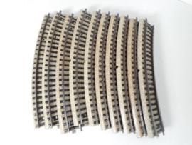 Märklin 5100-10  gebogen rail 10 stuks