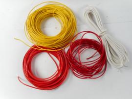 Kabel 0,5 x 10 mtr geel