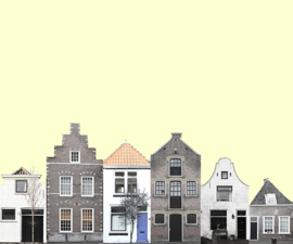 canal houses Delft