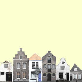 canal houses yellow