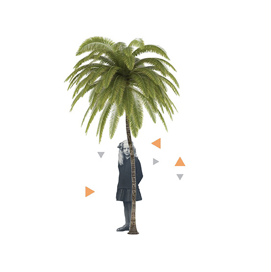 girl with palmtree