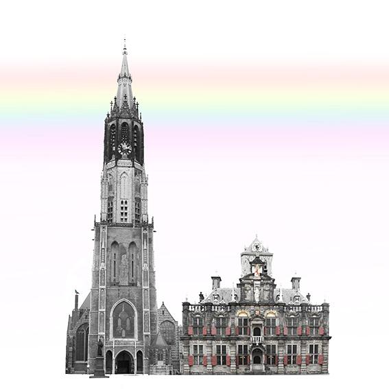 nieuwe kerk-stadhuis