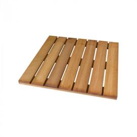 Terrastegel hardhout 30 x 30 cm (24 mm) ribbel.