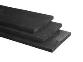 Schuttingplank zwart 15x150