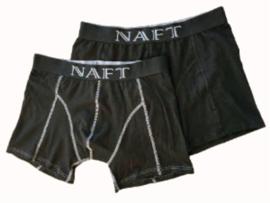 Herenboxer Naft Black katoen, set 2 stuks