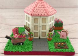 3D uitstkerset tuinhuisje + moestuin Roos Bakt (8-delig)