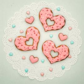 Donut hartvorm uitsteker 9cm