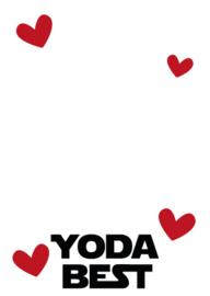 "Losse kaart ""YODA BEST"" (You're the best)"