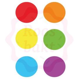 PYO verfpalet Regenboog 8 stuks