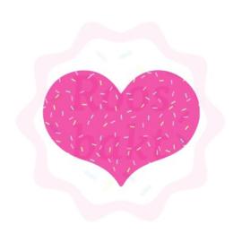 Mollig hartje uitsteker 8cm