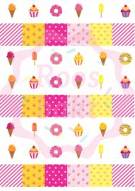 Sweets roze geel