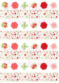 Bloemen rood groen