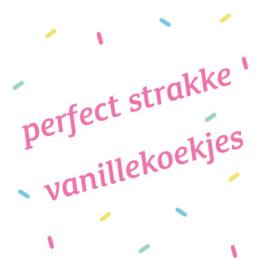 Gratis recept voor perfect strakke vanille koekjes