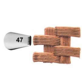 Wilton spuitmondje 47 voor latjes of mandpatroon