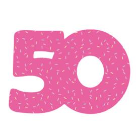 Cijfer 50 uitsteker 8cm