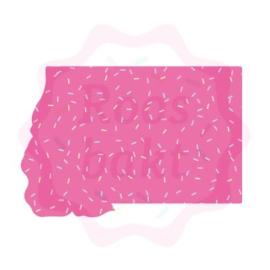 Floral rechthoek (make-up box) uitsteker 10cm