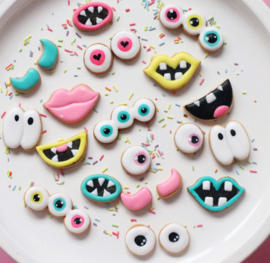 Monster ogen en mondjes set 1