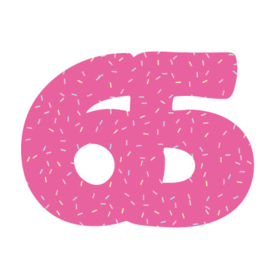 Cijfer 65 uitsteker 8cm