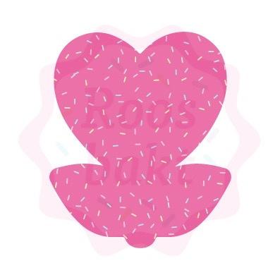 Bloem hart op steel  uitsteker 8cm