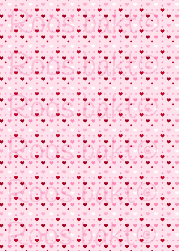 Hartjes roze achtergrond